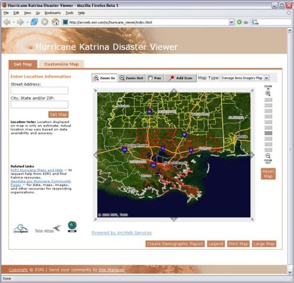 Esri katrina viewer